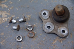 OE Rivets Removed