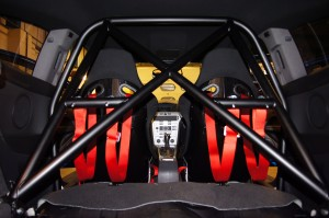 Roll Cage Fitted with Seats and Harnesses