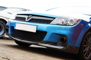 Carbon Fibre Front Splitter and V Grille