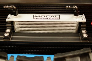 Oil Cooler Mounted to Intercooler