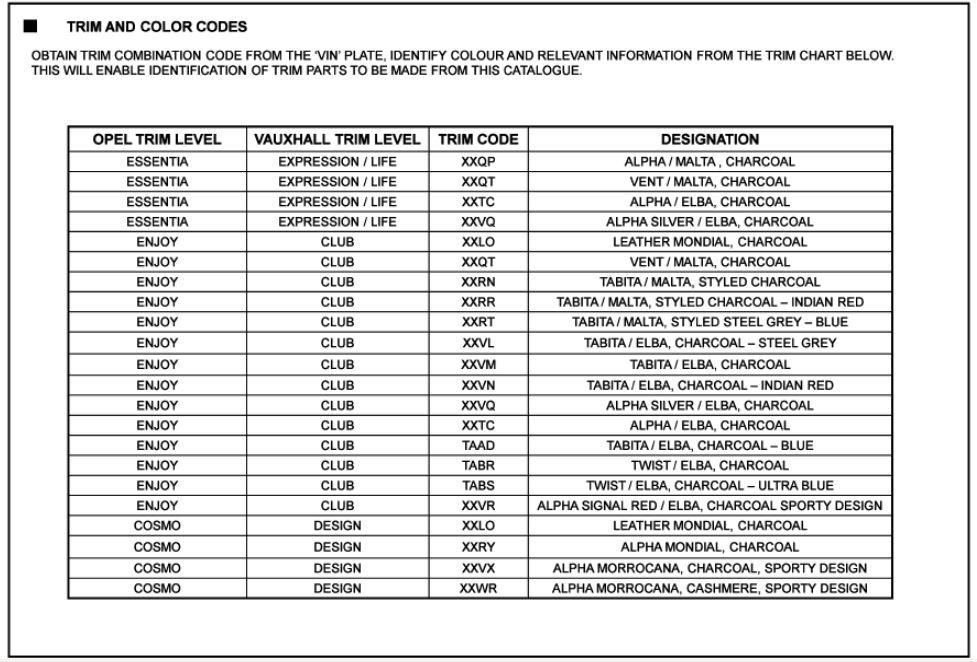Astra H Useful Information   Astra H VXR Sprint